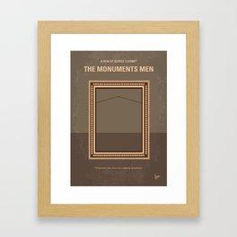 No845 My THE MONUMENTS MEN minimal movie poster Framed Art Print