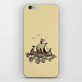 Viking ship 2 iPhone Skin