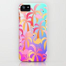 Flamingo Jungle iPhone Case