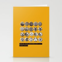 world cup Stationery Cards featuring World Cup Footballs by Thomas Orrow