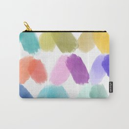 Watercolor brush texture pattern in white Carry-All Pouch