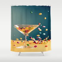 cocktail Shower Curtains featuring Chocolate Cocktail by Asano Kitamura