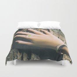 Hand Paquerette Duvet Cover