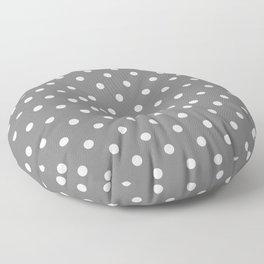 Grey & White Polka Dots Floor Pillow