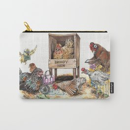 """""""Life in the Coop"""" funny chicken watercolor Carry-All Pouch"""