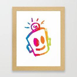 ROBOT stripes Framed Art Print