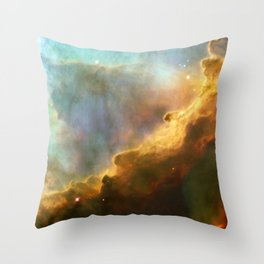 Omega Swan Nebula Constellation Sagittarius Galaxy Space Throw Pillow