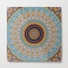 New Color Pyramidal Mandala 56 Metal Print