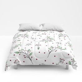 Holiday Floral Comforters