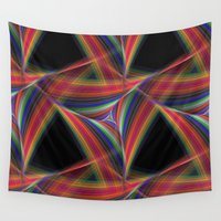triangles Wall Tapestries featuring Triangles by David Zydd