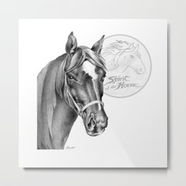 Barney the Hunter: Spirit of the Horse Metal Print