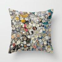 bubblegum Throw Pillows featuring bubblegum by ensemble creative
