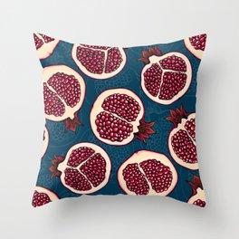 Pomegranate slices Throw Pillow