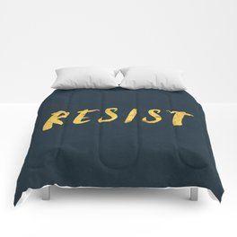 RESIST 6.0 - Freedom Gold on Navy #resistance Comforters