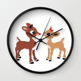 Classic Rudolph and Clarice Wall Clock