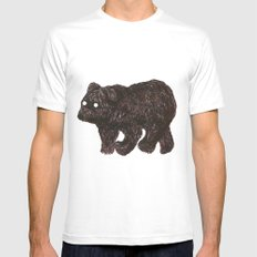 blind as a bear MEDIUM White Mens Fitted Tee