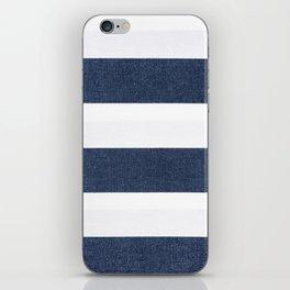 Nautical Blue & White Stripes iPhone Skin