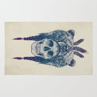 dead Area & Throw Rugs featuring Dead shaman by Balazs Solti