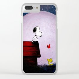 snoopy night dreams Clear iPhone Case