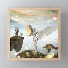 Wonderful fairy  on the rock Framed Mini Art Print