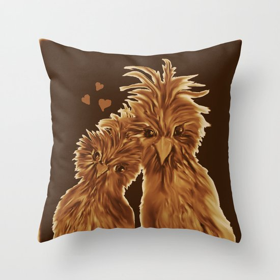 DODO LOVE BIRDS Throw Pillow by RokinRonda Society6