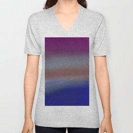Abstract Sea Sunrise on a Stormy Day 2 Unisex V-Neck