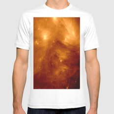 Copper Galaxy Nebula : The Seven Sister Pleiades White MEDIUM Mens Fitted Tee