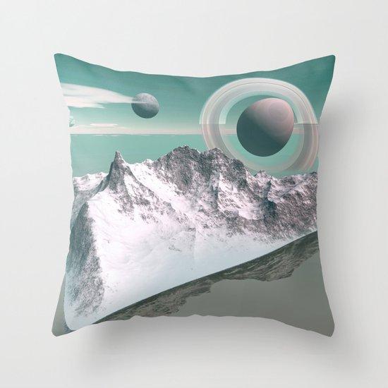 celestial horizon Throw Pillow
