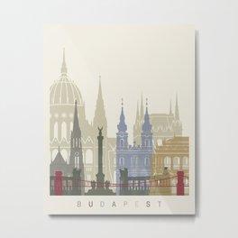 Budapest skyline poster Metal Print