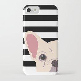 Peeking Frenchie iPhone Case
