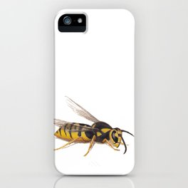 Wasp by Lars Furtwaengler | Colored Pencil / Pastel Pencil | 2011 iPhone Case