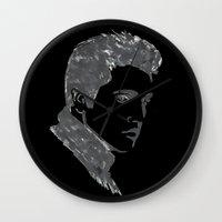 elvis Wall Clocks featuring Elvis by Alessia Bogdanich