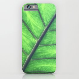 Hawaiian Tropical Jungle Leaf Macro View iPhone Case