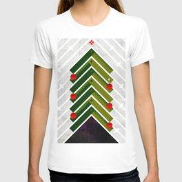 084 - Owly sitting the Christmas rocket tree T-shirt