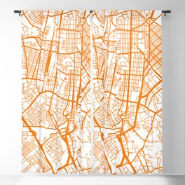 Street MAP Manila // Orange Blackout Curtain