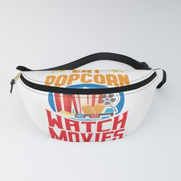 Eat Popcorn Watch Movie Ignore The World Fanny Pack