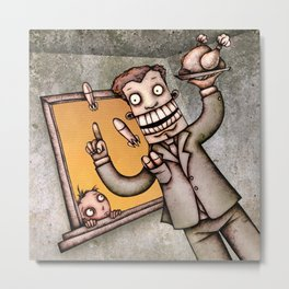 Crazy Corporate Politician Metal Print