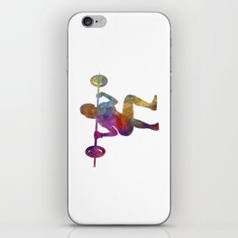 Body buiding woman isolated iPhone Skin