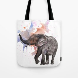 Dancing Elephant Painting Tote Bag