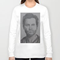 tyler spangler Long Sleeve T-shirts featuring Tyler Hoechlin by JMarGo