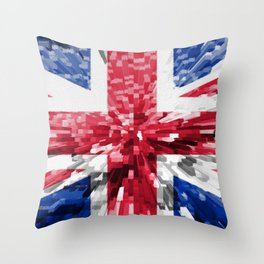 Extruded Flag of the United Kingdom Throw Pillow