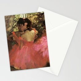 Dancers In Pink 1885 By Edgar Degas | Reproduction | Famous French Painter Stationery Cards
