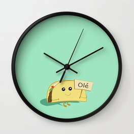 Happy Taco, Olé Wall Clock