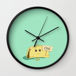 Happy Taco, Olé Wall Clock