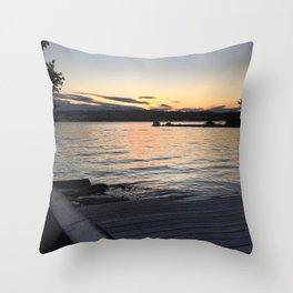 Hudson River Beacon NY 08/09/2015 Throw Pillow