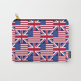 Mix of flag : Usa and uk Carry-All Pouch
