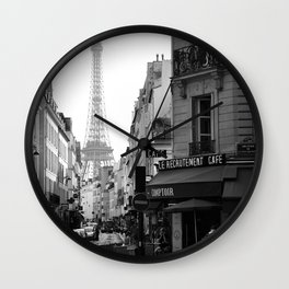 Paris Street Wall Clock