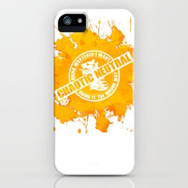 d20 Chaotic Neutral Alignment iPhone Case