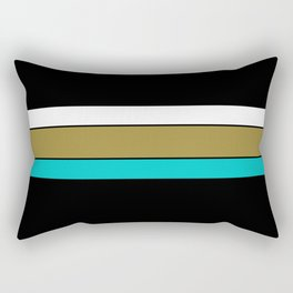 Team Colors,,,Teal,gold and Black Rectangular Pillow