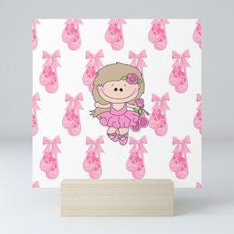 Little Ballerina in Pink Mini Art Print